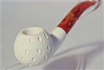 Standard Apple Lattice Bent Meerschaum Pipes