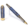 Art Deco Fountain Pen - Blue Box Elder