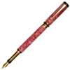 Classic Elite Fountain Pen - Red Maple Burl
