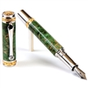 Majestic Fountain Pen - Green Maple Burl