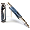 Majestic Fountain Pen - Blue Maple Burl