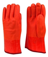 "1 dozen (12 pairs) Safety Orange 12"" Long PVC Gloves waterproof"