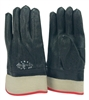 1 dozen (12 pairs) Safety Black PVC Coated Gloves waterproof