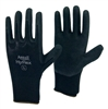 1 dozen (12 pairs) Ansall Black LATEX PALM COATED Nylon flexible glove