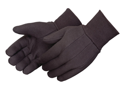 Brown Jersey cotton/ploy work gloves 300 pairs