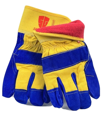 1 dozen (12 pairs) Cowhide Blue leather palm work glove with insulation waterproof