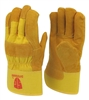 1 dozen (12 pairs) Cowhide Yellow leather palm work glove with insulation