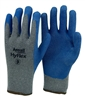 1 dozen (12 pairs) Blue LATEX PALM COATED Cotton flexible glove
