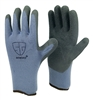 1 dozen (12 pairs) Gray LATEX PALM COATED Cotton flexible glove
