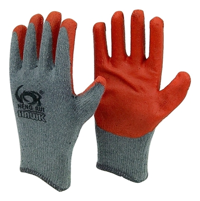 40 pairs Heng Rui Orange LATEX PALM COATED STRING KNIT WORK GLOVE