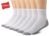 Hanes Men's Crew Cushion Socks, 6-12, White, 6 pairs