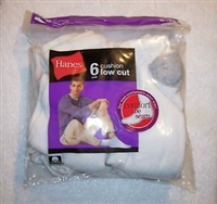 Hanes Men's No Show Cushion Socks, 6-12, white, 6 pairs