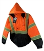 High-Visibility orange Bomber Jacket