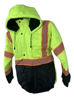 High-Visibility Green Bomber Jacket 203