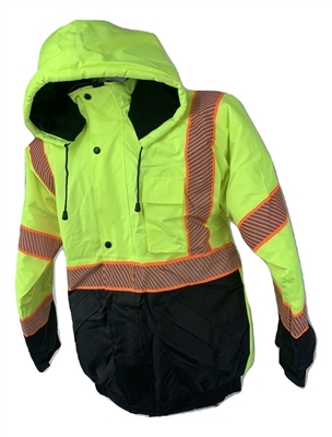 High-Visibility Green Bomber Jacket