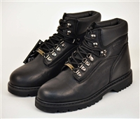 "Five Star 6"" black leather heavy duty work boots"