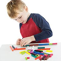 Cuisenaire Rods Introductory Set with Rod Track