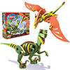 Bloco 3D Velociraptor and Pterosaur Set