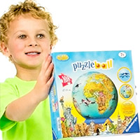108-Piece Childrens World Map Puzzleball