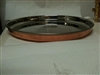 "Copper & Steel Thali 13"" Dia"