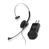Chameleon 2132 Monaural Telephone Headset & ACD/PBX Two Prong Amplifier Combo