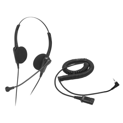 Chameleon 2202 Binaural Telephone Headset w/ 2.5mm Cord