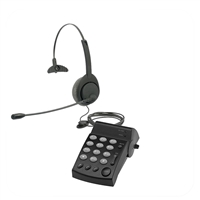 Air Series Single Ear Noise Canceling Headset - w/ DA202 Telephone