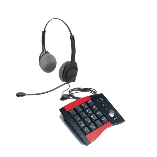 Air Series Dual Ear Noise Canceling Headset - w/ DA207 Telephone