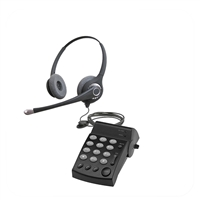 Flex Series Dual Ear Noise Canceling Headset - w/ DA202 Telephone