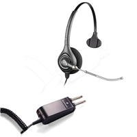 Plantronics HW251 SupraPlus Headset w/ Voice Tube - P10/2250 Amplifier 2 Prong Bundle