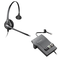 Plantronics HW251N SupraPlus Headset w/ Noise Canceling Mic - M22 Vista Amplifier Bundle