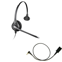Plantronics HW251N SupraPlus Headset w/ Noise Canceling Mic - Cisco Cable - 2.5mm/QD SPA Bundle