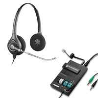 Plantronics HW261 SupraPlus Headset w/ Voice Tube - MX10 Multimedia Amplifier Bundle