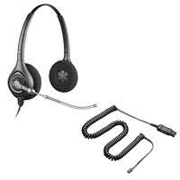 Plantronics HW261 SupraPlus Headset w/ Voice Tube - A10 Direct Connect Cable Bundle