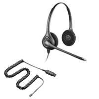 Plantronics HW261N SupraPlus Headset w/ Noise Canceling Mic - 26716-01 Amplifier/Cisco Direct Connect Cable Bundle