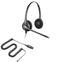 Plantronics HW261N SupraPlus Headset w/ Noise Canceling Mic - HIC Adapter Cable Bundle