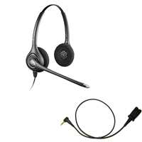 Plantronics HW261N SupraPlus Headset w/ Noise Canceling Mic - Cisco Cable - 2.5mm/QD SPA Bundle