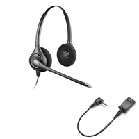 Plantronics HW261N SupraPlus Headset w/ Noise Canceling Mic - Cisco Cable - 2.5mm N1-QD Bundle
