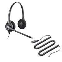 Plantronics HW261N SupraPlus Headset w/ Noise Canceling Mic - HIS Adapter Cable Bundle