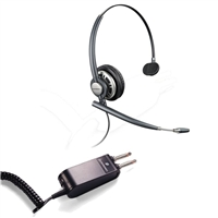 Plantronics HW291N EncorePro w/ Noise Canceling Mic - P10/2250 Amplifier 2 Prong Bundle