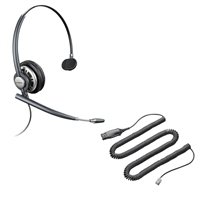 Plantronics HW291N EncorePro Headset - HIS Adapter Cable Bundle