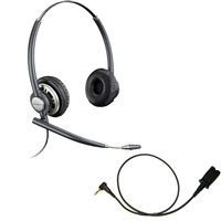Plantronics HW720 EncorePro Headset w/ Noise Canceling Mic - Cisco Cable - 2.5mm/QD SPA Bundle