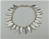 Light weight sterling silver had cut leaf choker