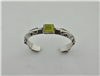 Triangular overlay sterling bracelet with Prehnite setting