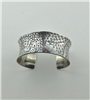 Hand crafted sterling silver patterned cuff
