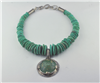 Ancient Roman glass pendant handcrafted Campo Frio turquoise necklace
