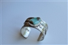 wide silver turquoise cuff