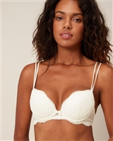 Ivory Lace Push Up Bra with Underwire