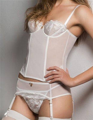 Emporio Armani Icona Sensual Lace Garter Belt with G-String