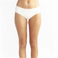 The perfect everyday brief made from a super soft cotton fabric trimmed with a delicate lace available in ivory and black